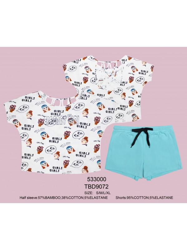 INDEFINI Пижама с шортами TBD9072