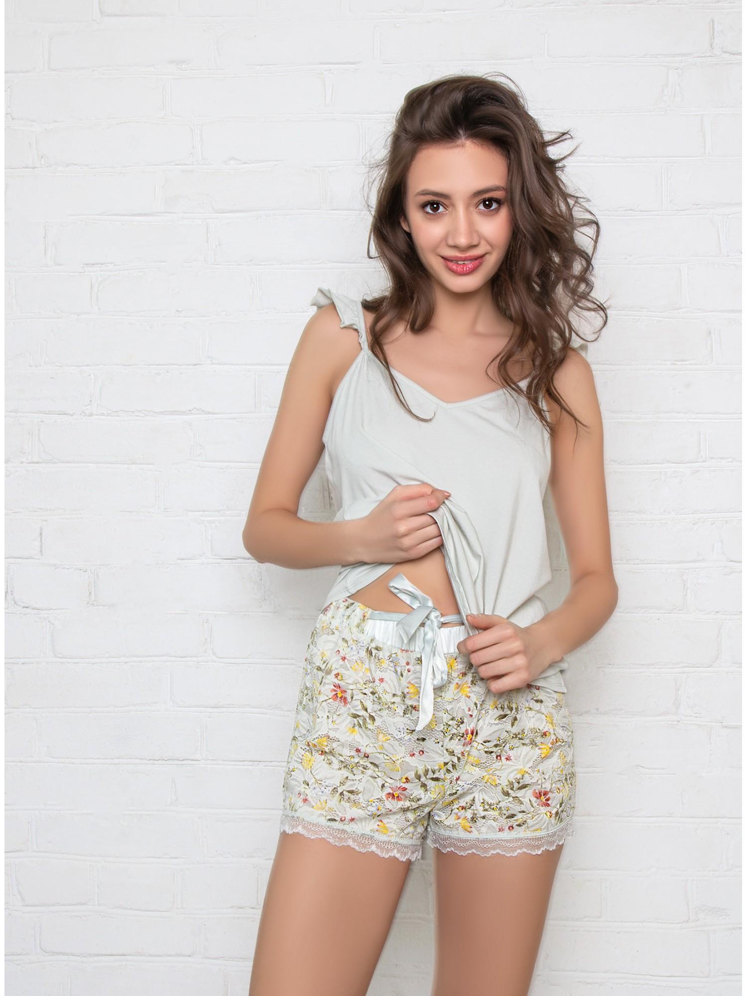 INDEFINI Пижама с шортами «Нежный цветок» TDP1017