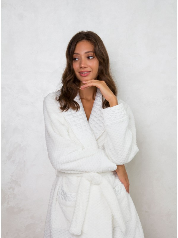 INDEFINI Стильный женский халат SYC1240